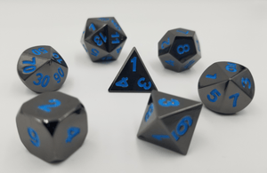 Midnight Metal Etched with Teal RPG Set