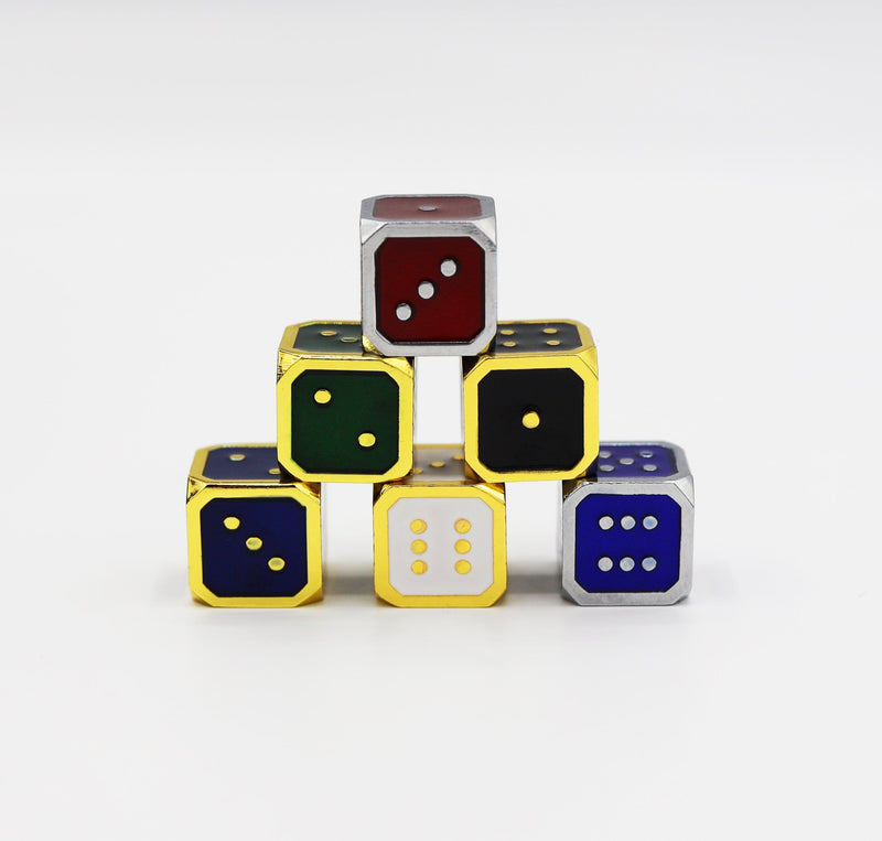 12mm Metal Pip D6 Dice