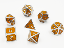 Load image into Gallery viewer, Silver Embossed Sunstone RPG Set