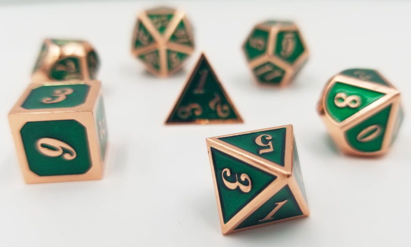 Copper Embossed Emerald RPG Set