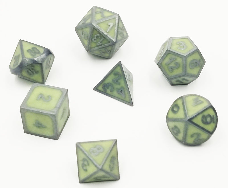 Green Glow in the Dark RPG Dice Set