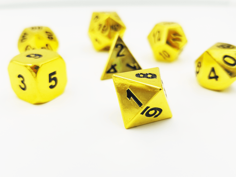 Etched Shiny Gold RPG Dice Set