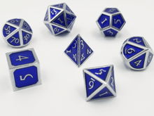 Load image into Gallery viewer, Silver Embossed Sapphire RPG Set
