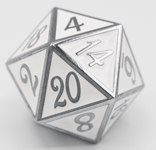 Load image into Gallery viewer, D20 Silver with White - 35mm