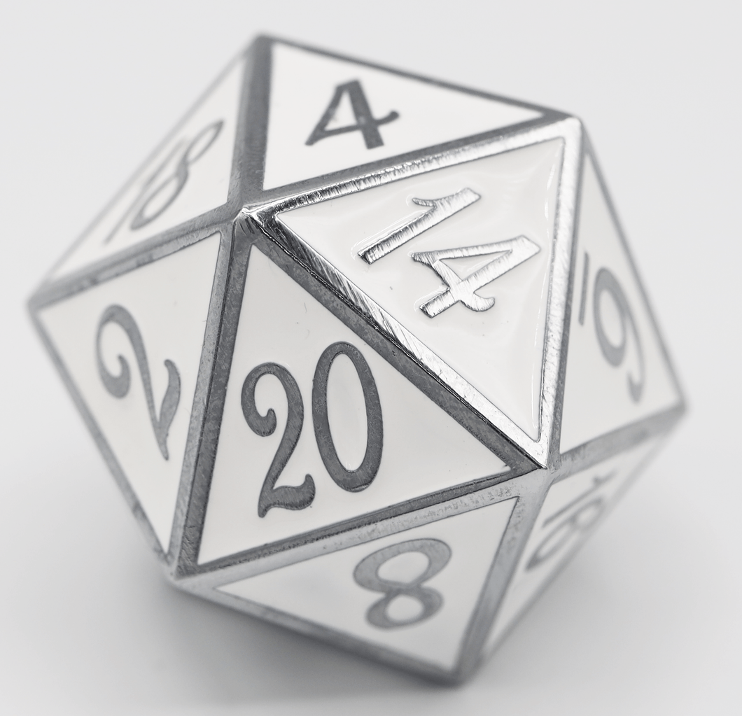 D20 Silver with White - 35mm