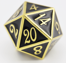 Load image into Gallery viewer, D20 Gold with Black - 35mm