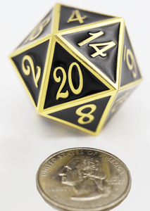 D20 Gold with Black - 35mm