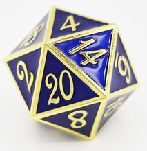Load image into Gallery viewer, D20 Gold with Blue - 35mm