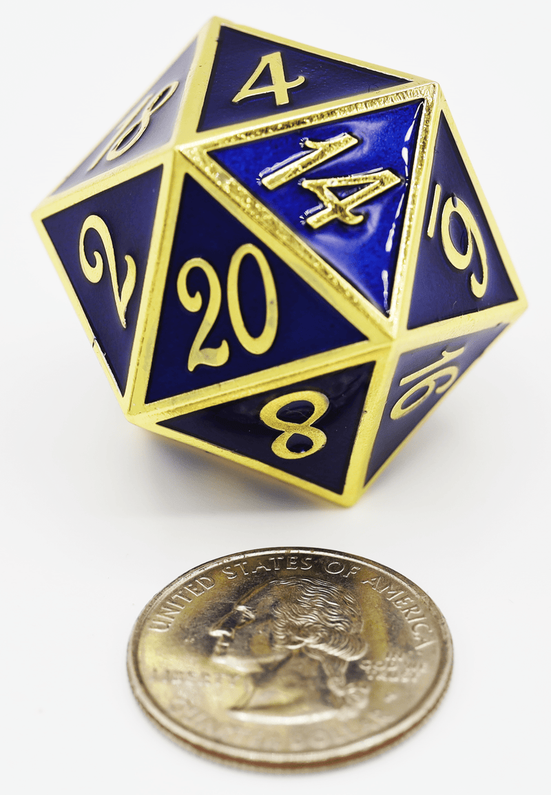 D20 Gold with Blue - 35mm