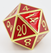 Load image into Gallery viewer, D20 Gold with Red - 35mm