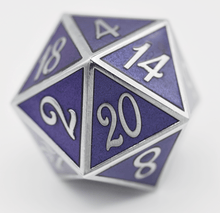 Load image into Gallery viewer, D20 Silver with Purple - 35mm