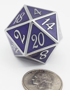 D20 Silver with Purple - 35mm