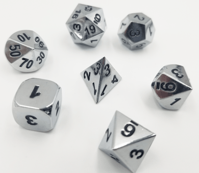 Etched Shiny Silver RPG Set