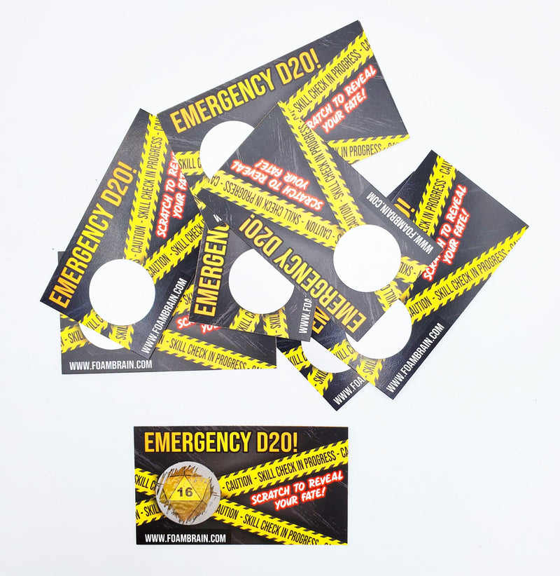 Emergency D20 Scratch Off Card (Pack of 10 cards)
