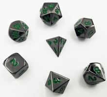 Load image into Gallery viewer, Midnight Metal Etched with Green RPG Set
