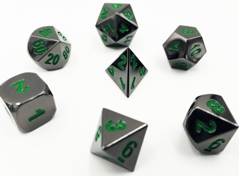 Midnight Metal Etched with Green RPG Set