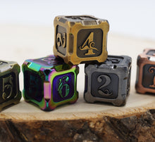 Load image into Gallery viewer, Alchemist Metals RPG Dice Set: Burnt Opal
