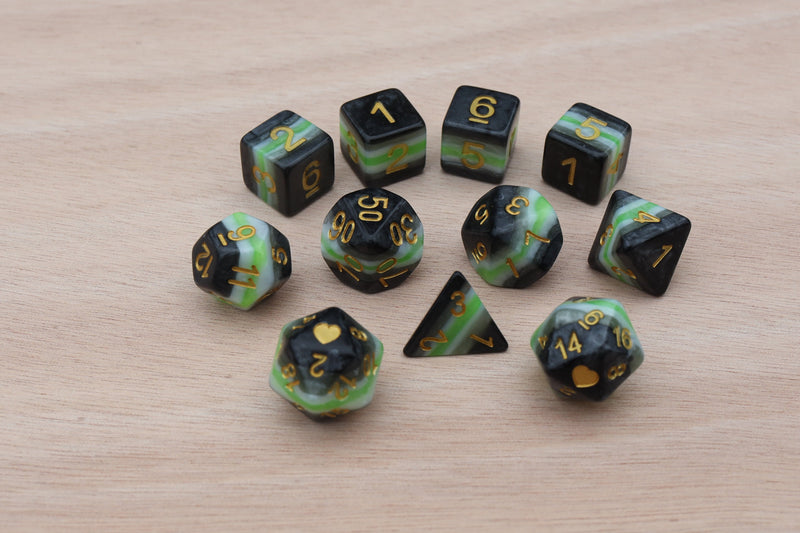 Asexual Heartbeat Dice Set