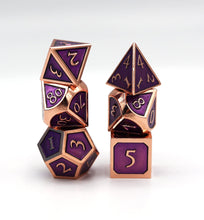 Load image into Gallery viewer, Copper with Amethyst RPG Set