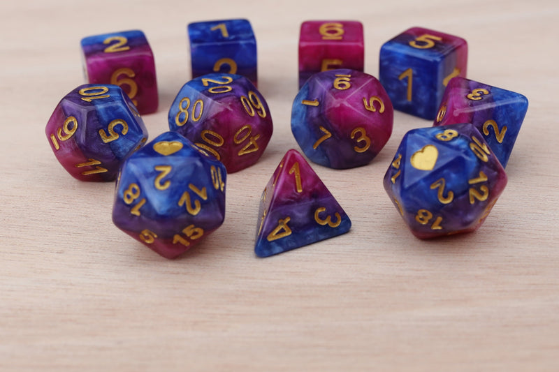 Bisexual Heartbeat Dice Set