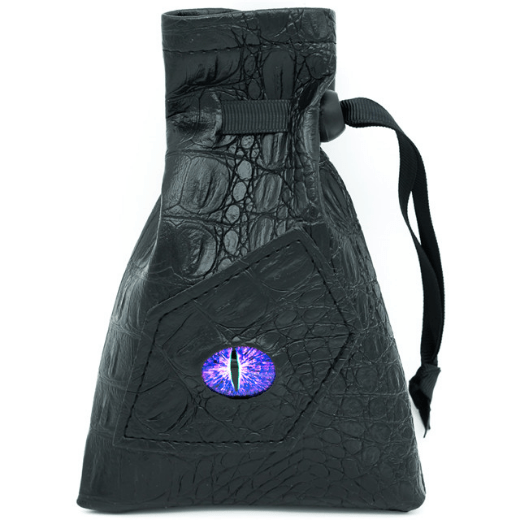 Black Leatherette Dark Mage Eye Dice Bag