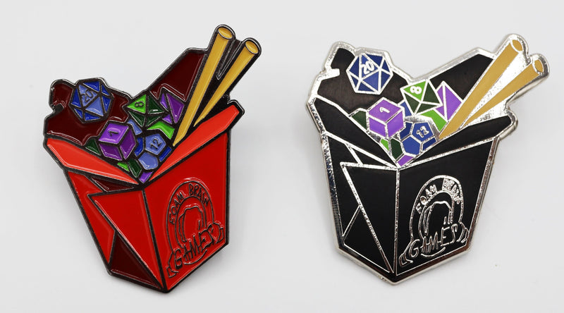 Take Out Dice Enamel Pin
