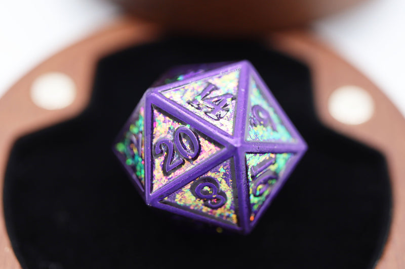 City Lights RPG Metal Dice Set