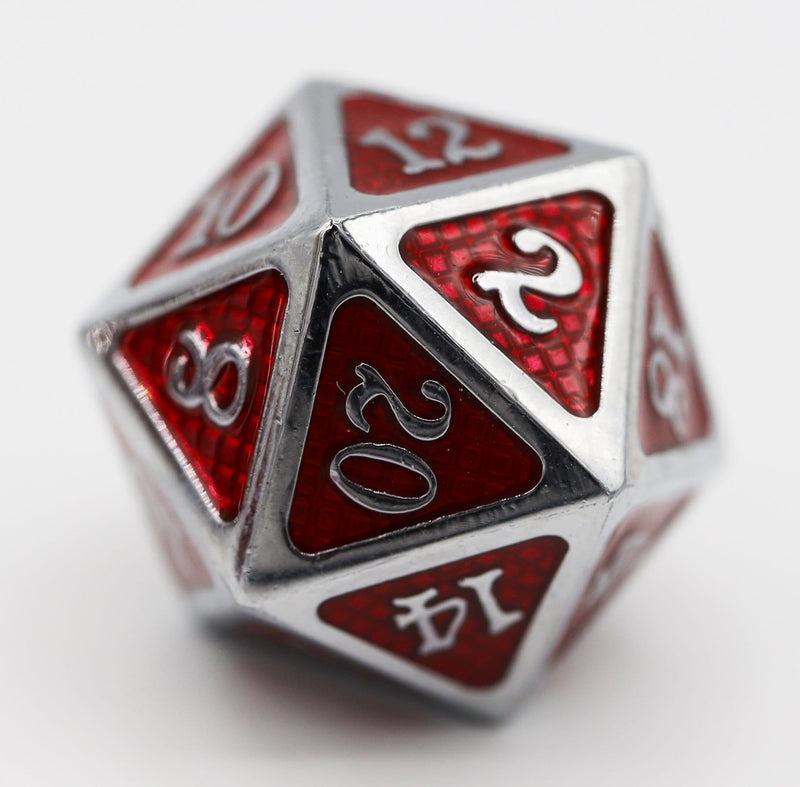 Crimson Mesh RPG Dice Set