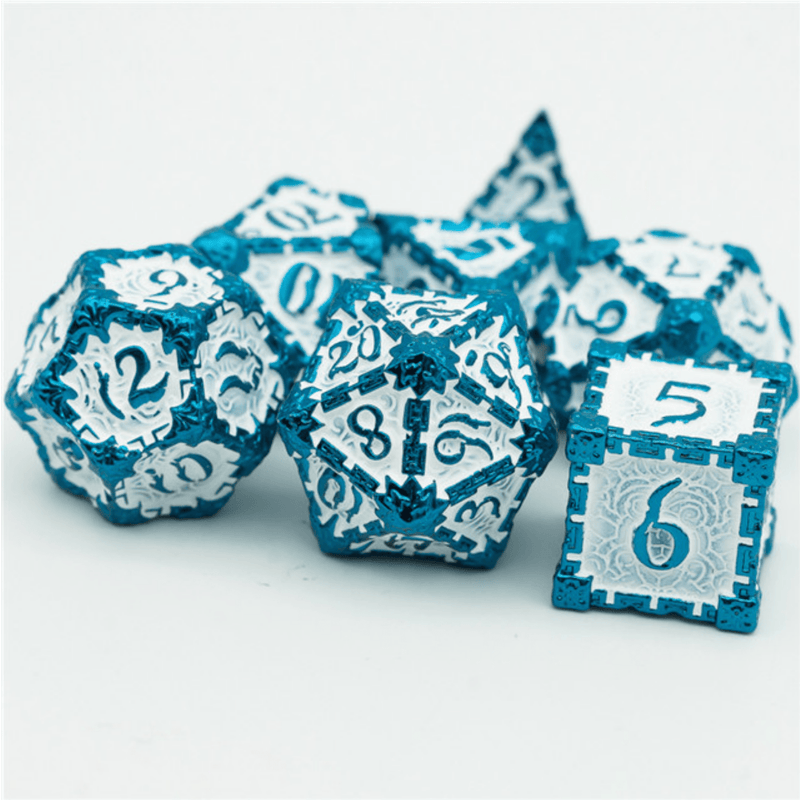 Dagger of Venom: Blue RPG Metal Dice Set