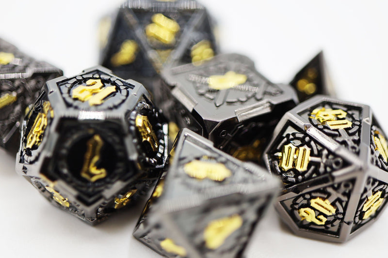 Demonic Sword RPG Metal Dice Set