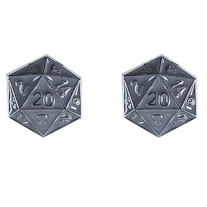 Stud Earrings: D20 (Assorted Colors)