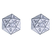 Load image into Gallery viewer, Stud Earrings: D20 (Assorted Colors)