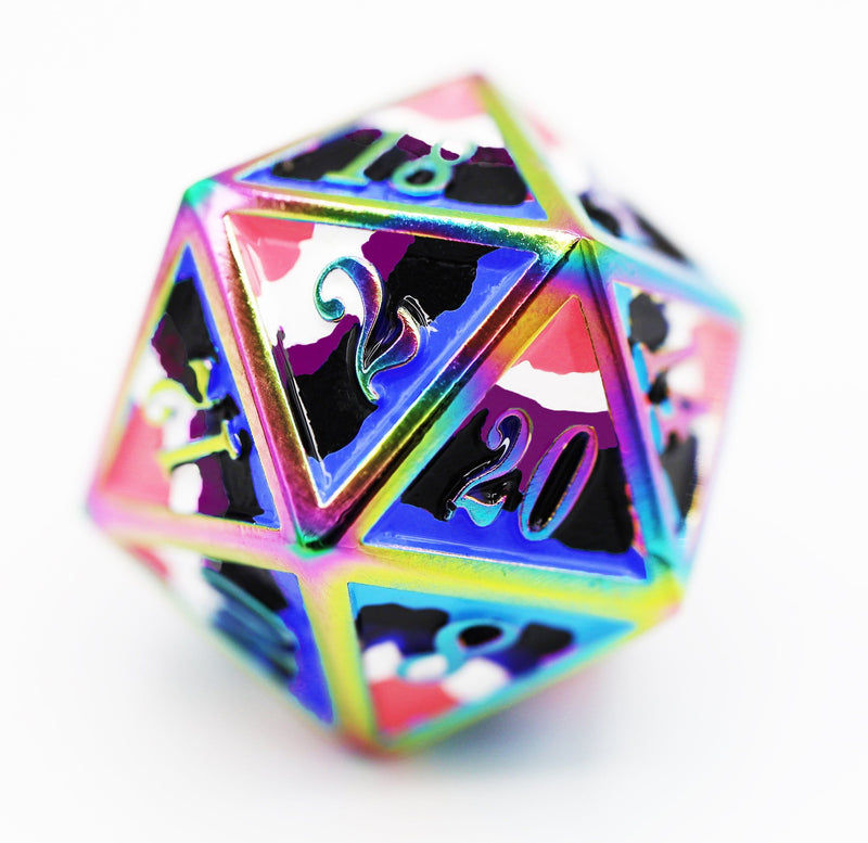 Gender Fluid Pride Flag - RPG Metal Dice Set