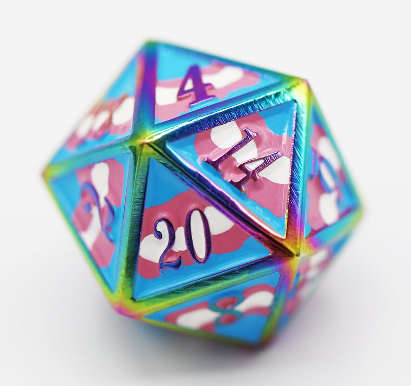 Trans Pride Flag - RPG Metal Dice Set (Pre-Sale)