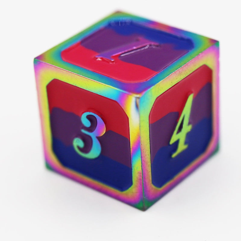 Bisexual Pride Flag - RPG Metal Dice Set (Pre-Sale)