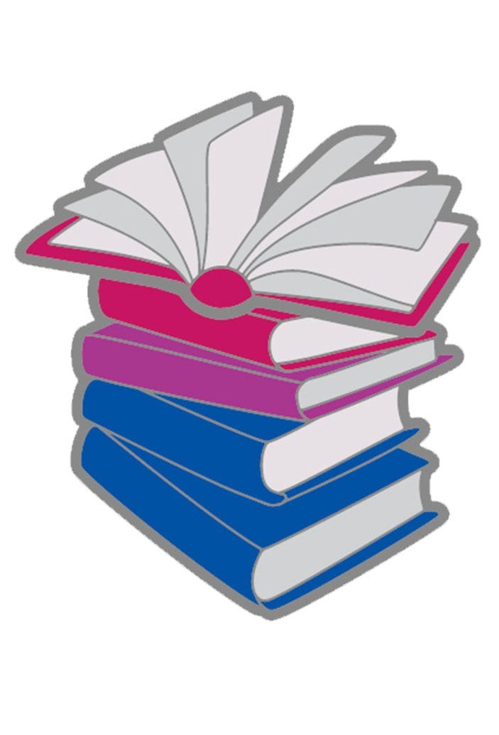 Enamel Bisexual Books Pride Pin