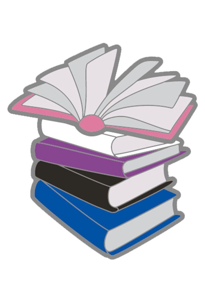 Enamel Gender Fluid Books Pride Pin
