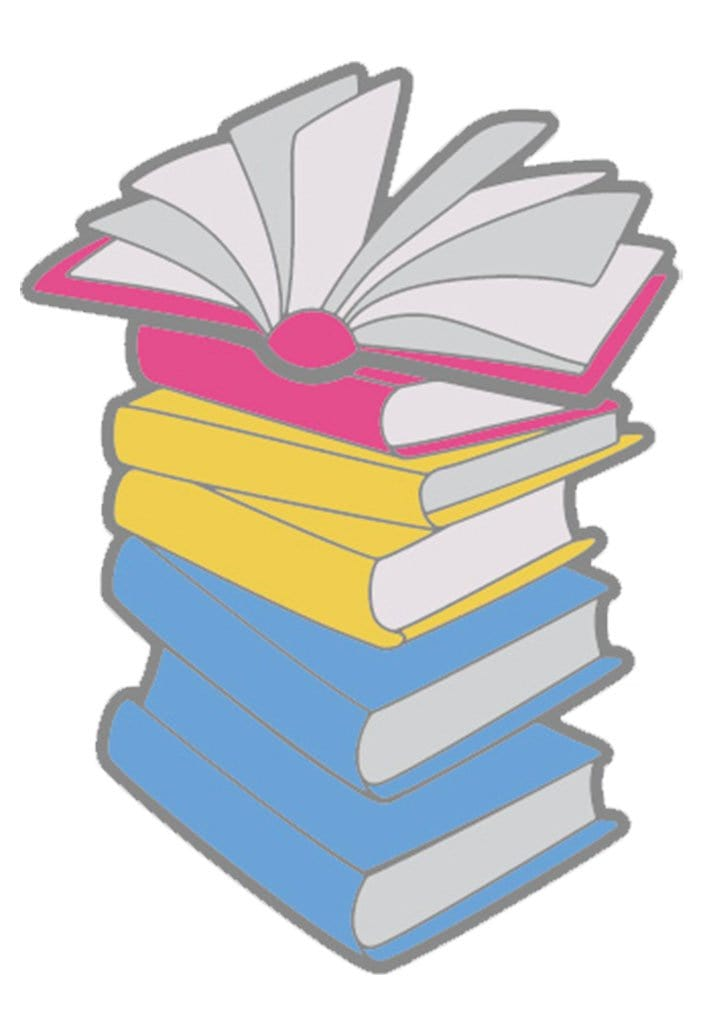 Enamel Pansexual Books Pride Pin