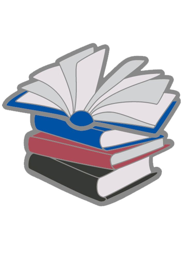 Enamel Poly Books Pride Pin