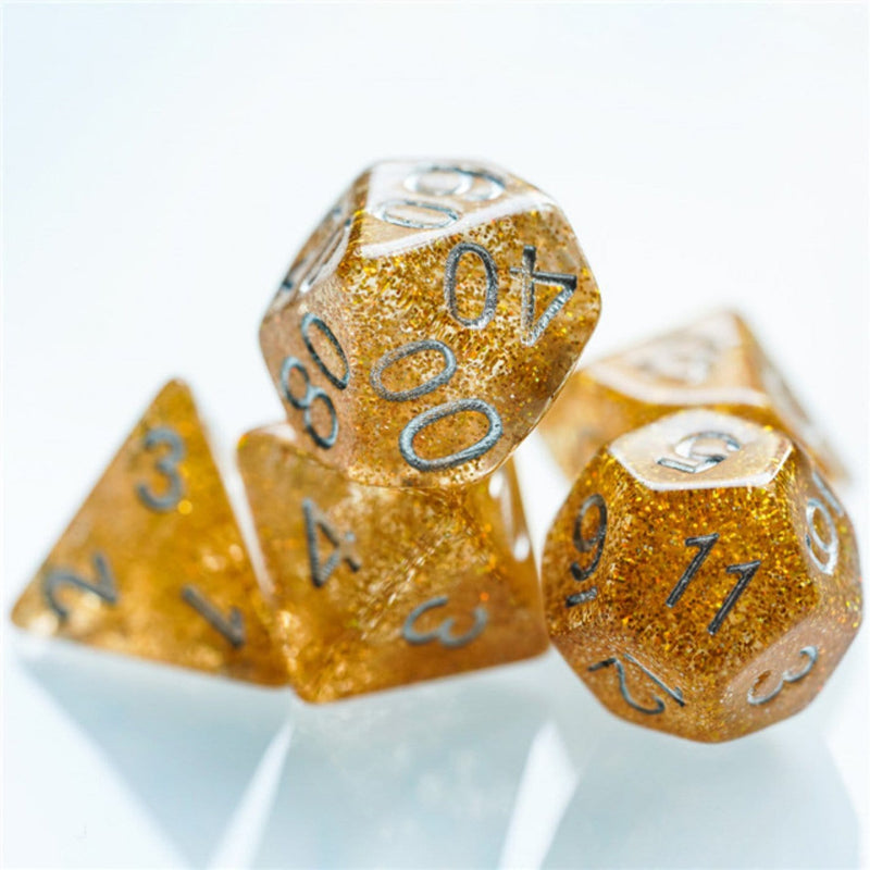 Gold Disco Ball RPG Dice Set