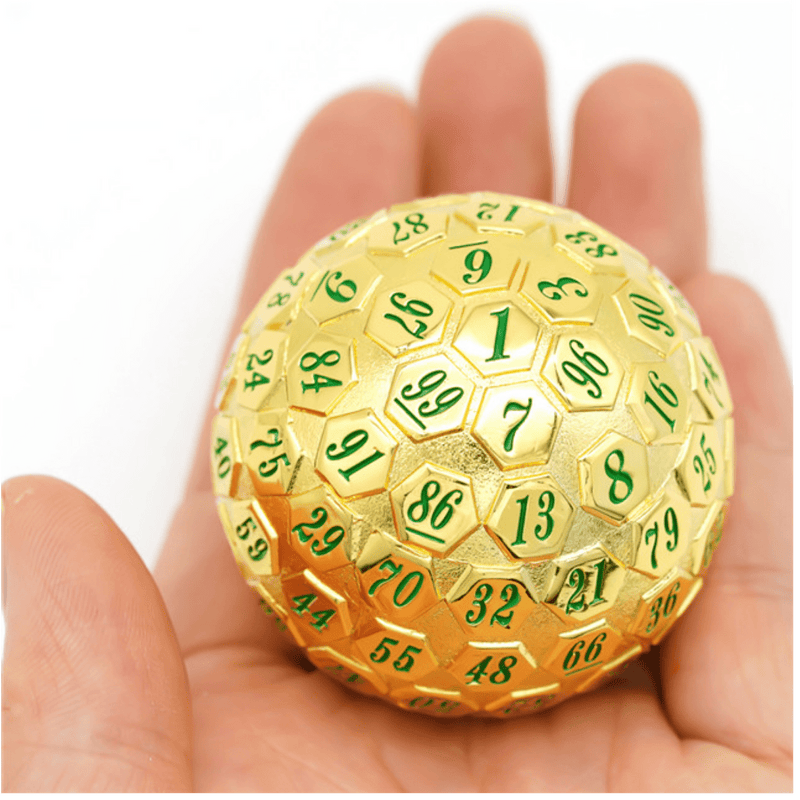 45mm Metal D100 - Gold with Green