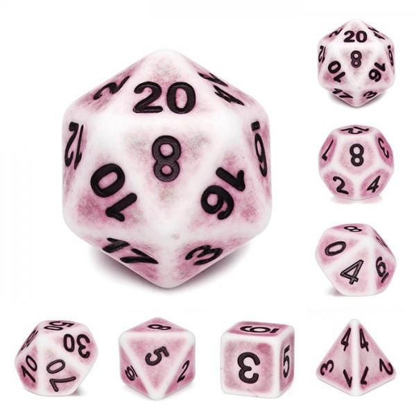Pink Ancient RPG Dice Set