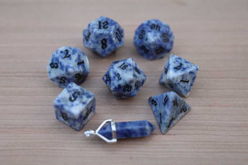 Level Up: Blue Bahia Granite RPG Set & Bonus Pendant