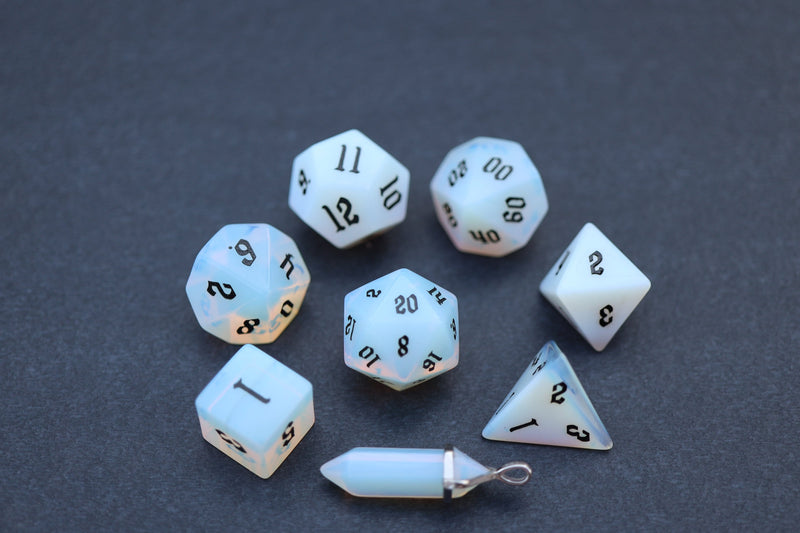 Level Up: Opalite RPG Dice & Bonus Pendant