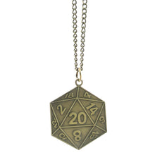 Load image into Gallery viewer, Metal Pendant: D20 (Assorted Colors)