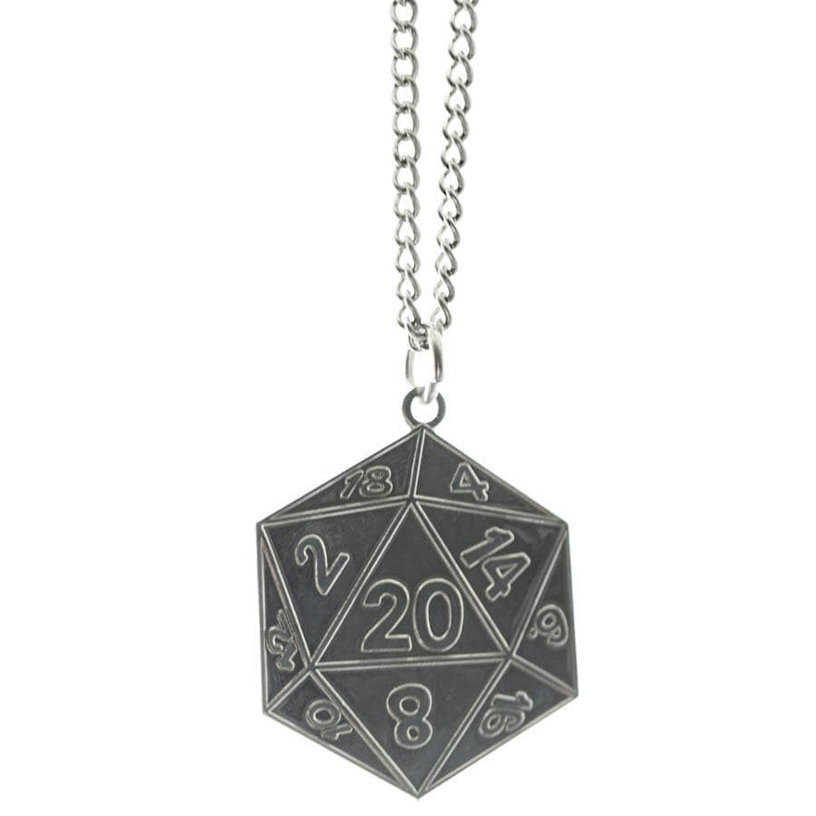 Metal Pendant: D20 (Assorted Colors)