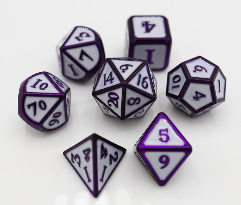 Purple Moon RPG Metal Dice Set