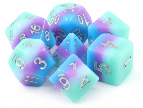 Rainbow Dash RPG Dice Set