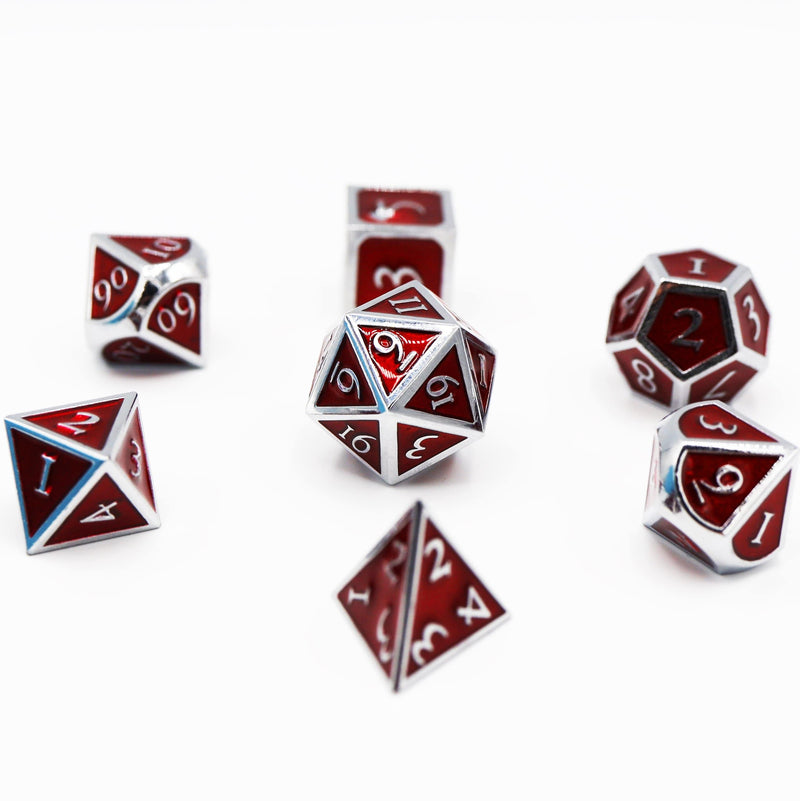Silver Embossed Ruby RPG Set