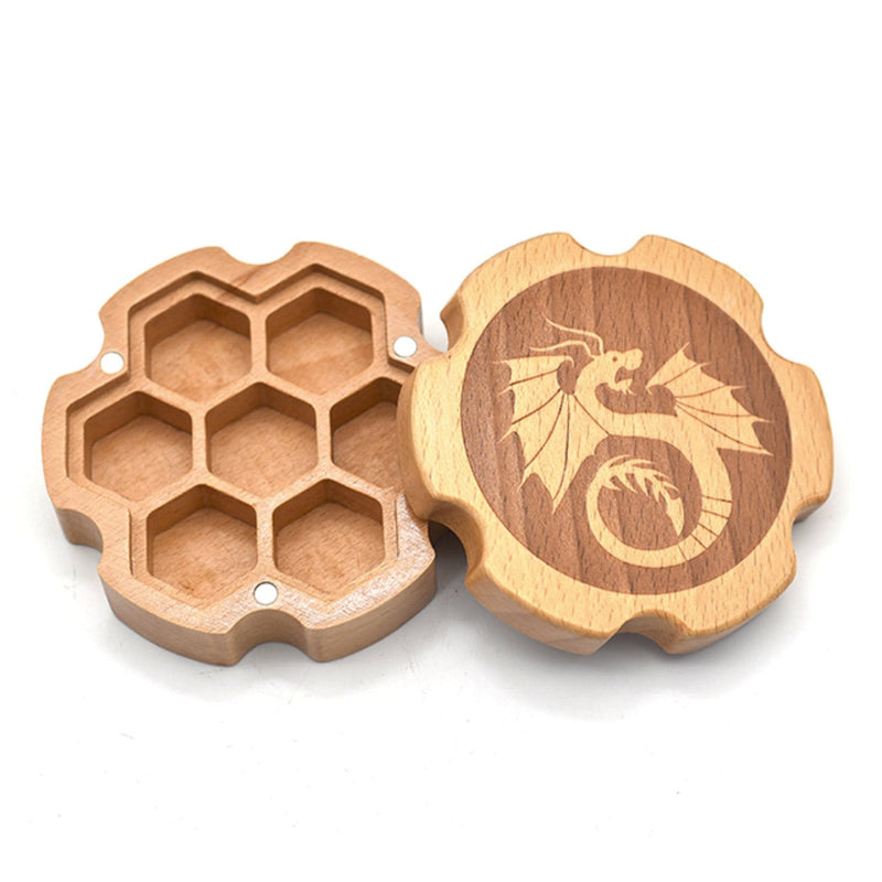 Beech Wood Dice Box (Hexagonal)